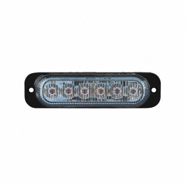 Durite R65 Amber High Intensity 6-LED Warning Light - 12/24V