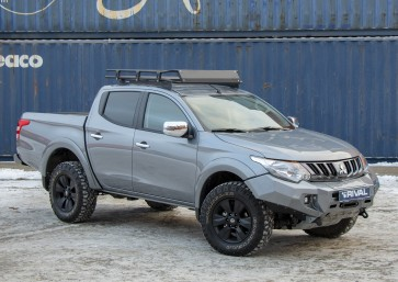 Rival - Mitsubishi L200 / Triton - Roof Rack - With Fitting kit and Wind Deflector -