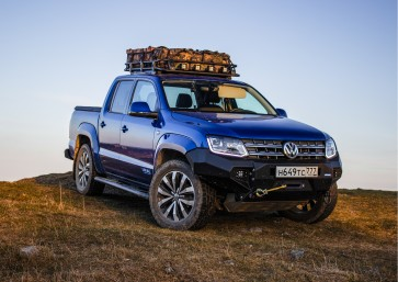 Rival - Volkswagen Amarok - Roof Rack - With Fitting kit and Wind Deflector -