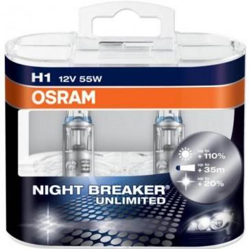 H1 Osram NightBreaker Unlimited Bulb Set