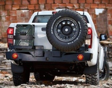 AFN Ford Ranger 2016 On Rear Bumper WIth Jerry Can & Wheel Mount