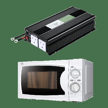 1500W 12V Power Inverter + Microwave Oven Combo