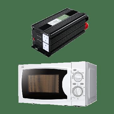 2000W 12V Power Inverter + Microwave Oven Combo