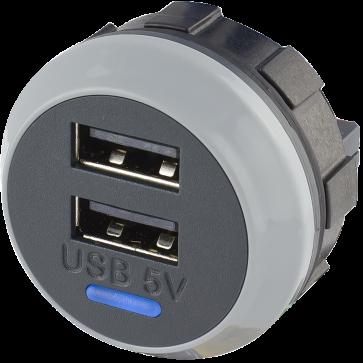 Alfatronix PVPro-D 12/24VDC USB Charger