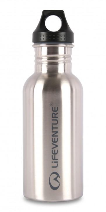 Lifeventure Stainless Steel Bottle - Silver - 600ml