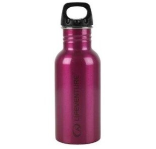 Lifeventure Stainless Steel Bottle - Pink - 800ml