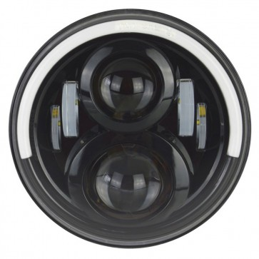 "7"" Aurora LED Headlight LHD With Halo"