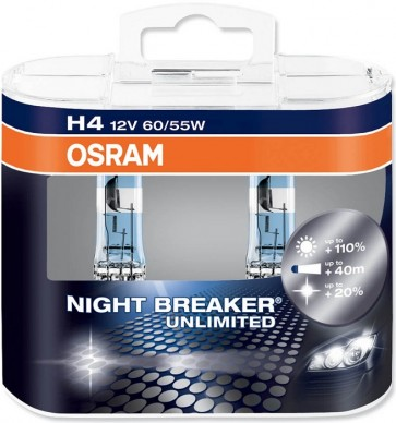 H4 Osram NightBreaker Unlimited Bulb Set