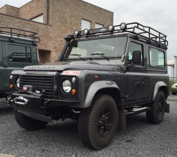 D44 Defender High Mount Air Con Bumper For Lowline Winch - Tapered Ends