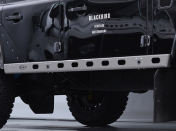 Bowler Light Weight Sill Protectors - Defender 110 - Graphite