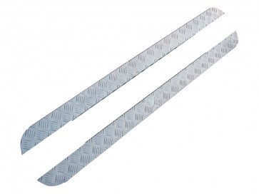 Britpart Series Chequer Plate Side Sill Set 88""