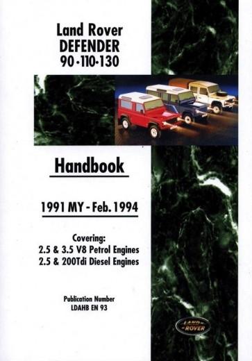 Defender Handbook 1991 - 1994
