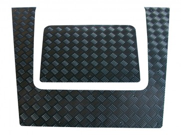 Britpart Defender Chequer Plate Bonnet 2007 To 2016 - Black
