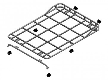 Safety Devices Explorer Roof Rack 90 / 110 With Roll Cage - Short Rail