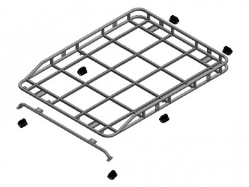 Safety Devices Explorer Roof Rack 90 / 110 With Roll Cage - Long Rail