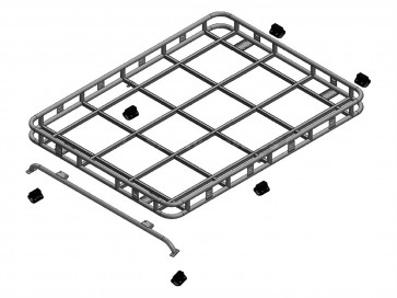 Safety Devices Explorer Roof Rack 90 / 110 With Roll Cage - Full Rail