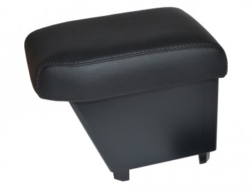 Freelander 2 up to 2012 (with no factory fitted armrests) Cubby Box and Armrest - Black Real Leather
