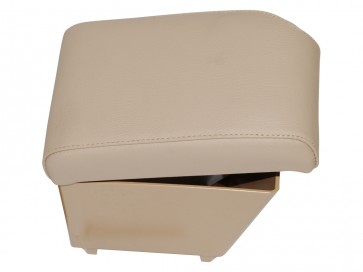 Freelander 2 up to 2012 (with no factory fitted armrests) Cubby Box and Armrest - Alpaca Leather