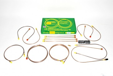 DA7435 Brake Pipe Kit - Range Rover Classic LHD No ABS 1987 On With Front Valve & Bypass Pipe