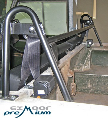 Soft Top Front Seat Belt Bar
