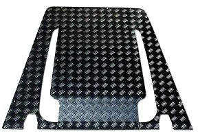 Mammouth 3mm Premium bonnet protection plate for Defender 2007 on (black powder coated)