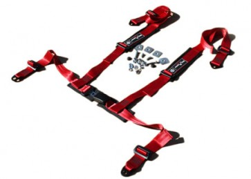 Exmoor Trim 4 Point Fully Adjustable Harness - Red