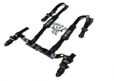 Exmoor Trim 4 Point Fully Adjustable Harness - Black