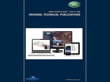 Range Rover P38 - 1994 - 2001 Original Technical Publication DVD