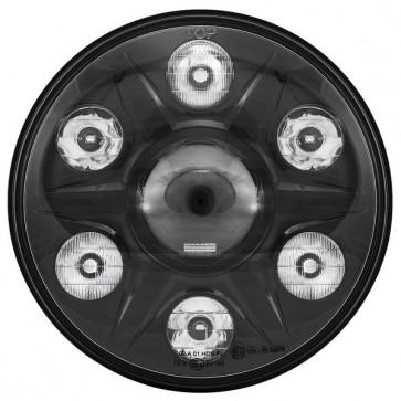 "LTPRTZ 7"" LED Headlight PHANTOM with Position Light ECE Right-Hand-Drive"