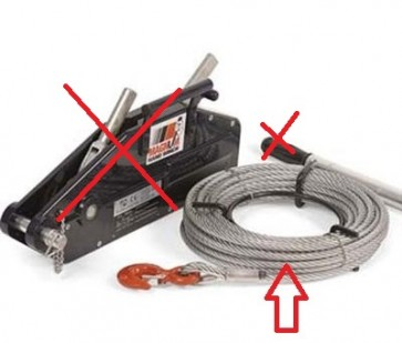 ARB Magnum Hand Winch Rope and Reeler Only