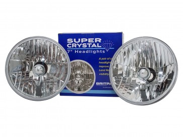 "7"" Crystal Halogen Headlamp Set RHD"