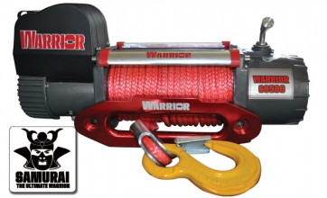 Warrior S9500 Samurai Winch with Synthetic Rope 12v