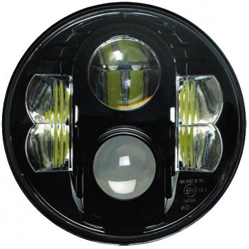 "7"" Guardian LED Headlight RHD - Black Chrome"