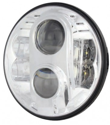 "7"" Guardian LED Headlight RHD - Chrome"