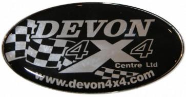 Devon 4x4 Domed Sticker Badge Fitment
