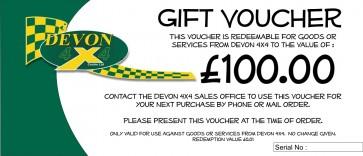 Devon 4x4 Gift Voucher - £100