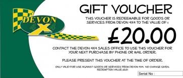 Devon 4x4 Gift Voucher - £20