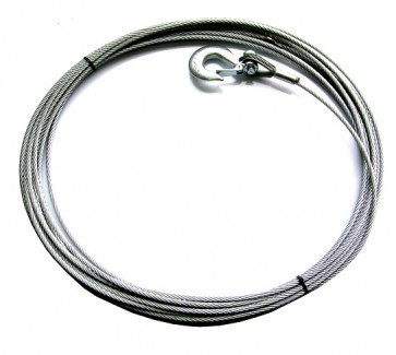 Wire Rope 38m / 125ft 8mm Fused And Tapered With Hook For 8274