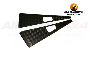 Mammouth 3mm Premium wing top protectors for Defender 1983-2007 (black powder coated)
