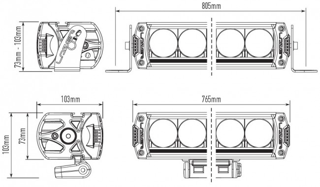 lazer triple-r 16 led spotlight - devon 4x4