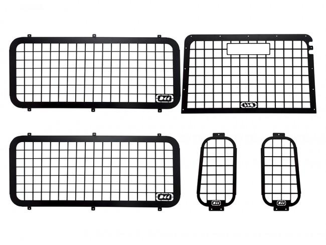 d44 defender 2002 to 2016 external window guard set  with inside rear door