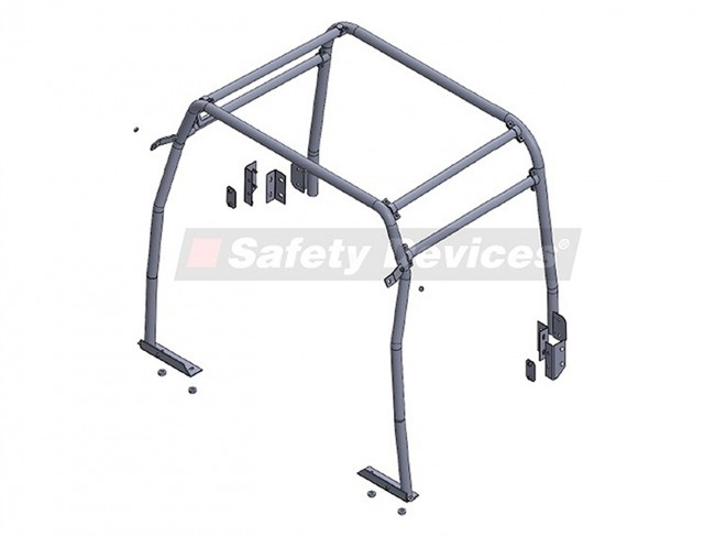 safety devices defender 110 station wagon 1983 - 2006 internal half cage