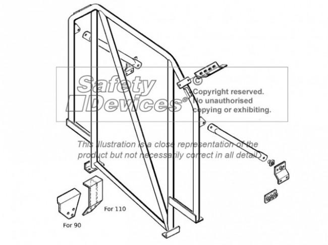 safety devices defender 90 internal roll bar - devon 4x4  a
