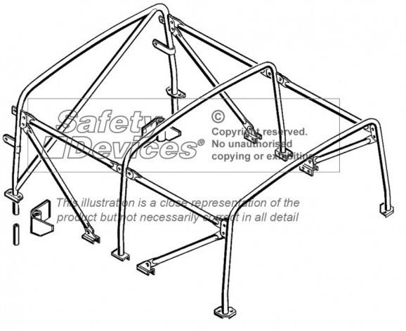 safety devices defender 110 soft top internal roll cage - devon 4x4