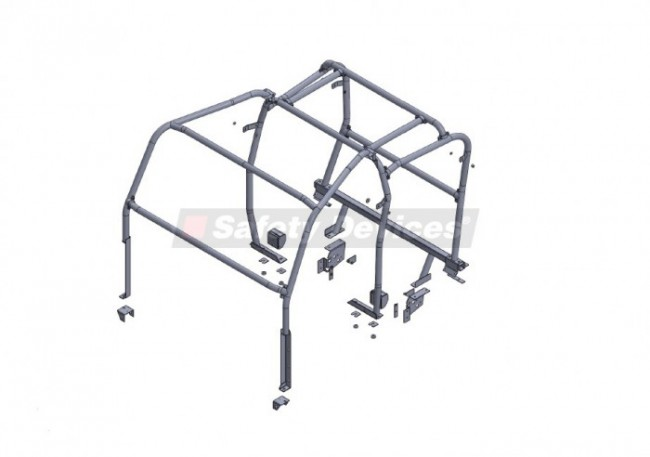 safety devices defender 110 double cab pickup external    internal roll cage 2007 on