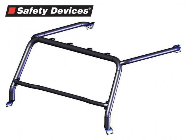 safety devices defender style bar    light mount 2 5 u0026quot  tube - silver - devon 4x4