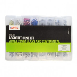 Durite Assorted 20MM, 32MM Glass and Continental Fuse Kit