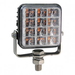 Durite R65 Square 12-LED Amber Warning Light - 12/24V