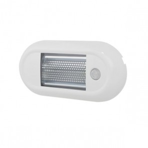 Durite Roof Lamp LED PIR White IP67 ECE R10 12/24V L 135 x W 65.8 x D 16mm