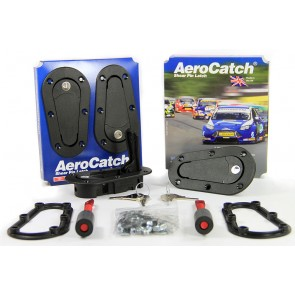 Aerocatch Bonnet Catch Kit Locking - Black